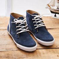 中國強 MIT 質感絨布皮休閒鞋CH102(藍色)