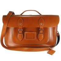 【The Leather Satchel Co.】15吋 英國手工牛皮劍橋包 (倫敦棕)