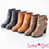 ☆Love Girl☆顯瘦時尚高跟機車短靴