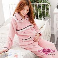 天使霓裳 溫柔暖兔 居家孕婦哺乳衣套裝(豆沙F)-HG41224
