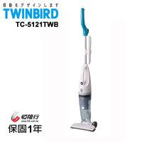 日本TWINBIRD-手持直立兩用吸塵器(藍)TC-5121TWB