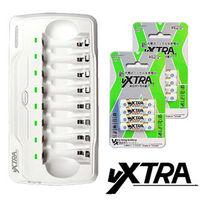 【VXTRA】LED智慧型4.8A大電流八入充電器充電組(內附4號充電電池8入)