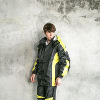 奧德蒙戰神Mars兩件式風雨衣(黑/芥末黃)