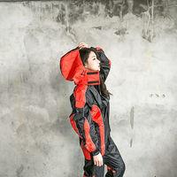 奧德蒙戰神Mars兩件式風雨衣(黑/橘紅)