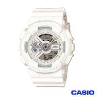 CASIO 卡西歐 G-SHOCK夏日街頭機械風陽光型男運動錶-白 GA-110BC-7A