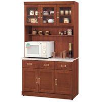 【時尚屋】[UZ5]艾菲爾柚木4尺石面碗碟櫃組934-1