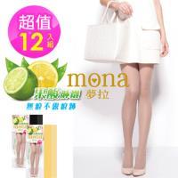 【夢拉mona】果酸香全透膚顯瘦絲襪(12雙入)