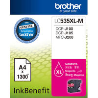 Brother LC535XL-M 原廠高容量紅色墨水匣