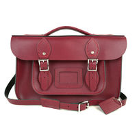 【The Leather Satchel Co.】12.5吋 英國手工牛皮劍橋包 (葡萄紅)
