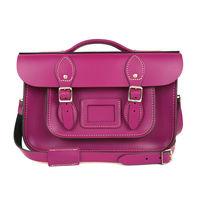 【The Leather Satchel Co.】12.5吋 英國手工牛皮劍橋包 (紅莓紫)