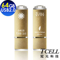 TCELL 冠元-USB2.0 64GB 國旗碟 (香檳金限定版)