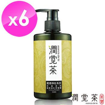 【茶寶 潤覺茶】 茶樹綠茶輕感淨化洗髮露350ml(6瓶組)
