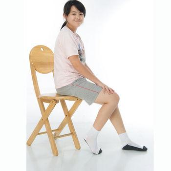 【KEROPPA】7~12歲學童專用毛巾底氣墊短襪x4雙(男女適用)C93002白配深灰