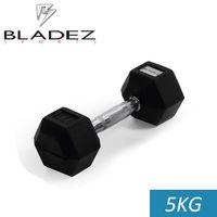 【Bladez】六角包膠啞鈴-5KG