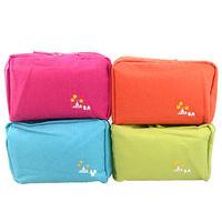 【iSFun】繽紛色調*多層布面收納包/四色可選