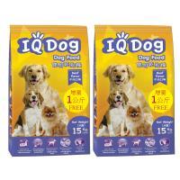 IQ Dog 聰明乾狗糧 - 牛肉口味成犬配方15+1kg(加量包)*2包