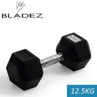 【Bladez】六角包膠啞鈴-12.5KG