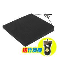 【源之氣】竹炭透氣斜坡記憶坐墊/厚7/3cm (黑色) RM-9448