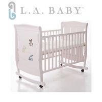 L.A. Baby 美國加州貝比~芝加哥嬰兒搖擺大床/童床-玫瑰粉色