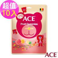 【ACE】比利時進口 水果Q軟糖隨手包 10入(48g/包*10)