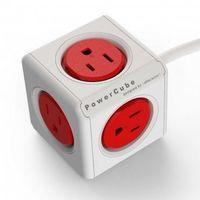 【PowerCube】魔術方塊延長線 (3孔+5插座+1.5米) 熱情紅