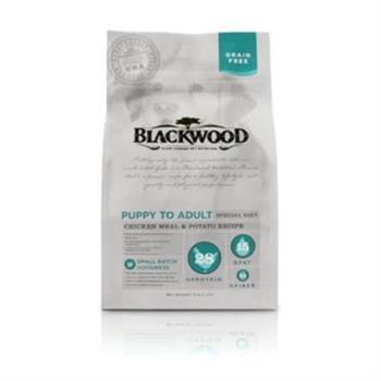 Blackwood 柏萊富 無榖全齡低敏純淨(雞肉+碗豆) 狗飼料 5磅*1包