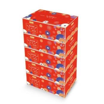 百吉牌盒裝面紙220抽x5盒