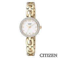 CITIZEN星辰 典雅晶鑽鏤空手鍊女錶 EJ6072-55A