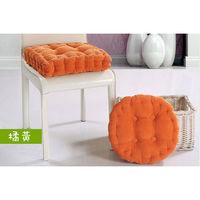 【JAR嚴選】加厚款燈心蕊馬卡龍坐墊(橘黃-圓型款)