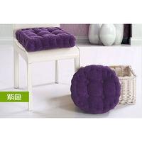 【JAR嚴選】加厚款燈心蕊馬卡龍坐墊(紫色-圓型款)