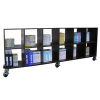 【頂堅】大型12格(無背板)書櫃/置物櫃/隔間櫃(附六個工業輪)-二色可選