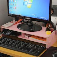 【買達人】DIY電腦置物增高置物架-2入