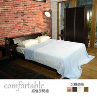時尚屋 [WG5]絲特床箱型4件房間組-床箱+床底+床頭櫃+衣櫃1WG5-5W