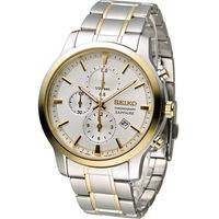 SEIKO 精工 CS系列經典紳士計時腕錶 7T92-0TT0KS SNDG68P1 雙色