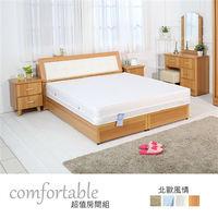時尚屋 [WG5]貝絲北歐床箱型4件房間組-床箱+掀床+床頭櫃1個+床墊1WG5-2+501A+3W+GA18-5