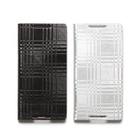 ZENUS SONY XPERIA Z3+ 金屬格紋書本式皮套