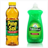 【美國 Pine sol 潘松】萬用松香清潔液(24oz/709ml)*3+【美國 Palmolive】洗碗精(28oz/828ml)*3