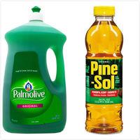 【美國 Pine sol 潘松】萬用松香清潔液(24oz/709ml)*3+【美國 Palmolive】棕欖濃縮洗碗精(90oz/2660ml)*1