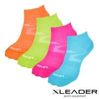 【LEADER】COOLMAX 運動專用薄型除臭機能襪 女款(四色任選)