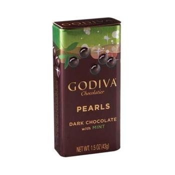 GODIVA 頂級珍珠鐵盒-薄荷巧克力