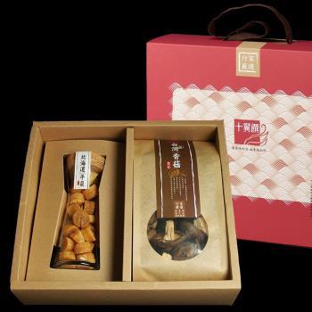 十翼饌 海陸臻賞 (北海道干貝+台灣香菇禮盒) 1組