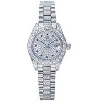 奧林比亞之星 Olympia Star-璀燦晶鑽錶(白金色28mm)683291DW