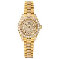 奧林比亞之星 Olympia Star-璀燦晶鑽錶(金色28mm)683291DK
