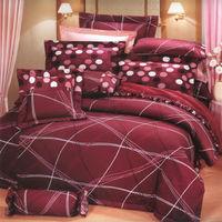 艾莉絲-貝倫 幸福的樂章-單人五件式(100%純棉)鋪棉床罩組(紫紅色)