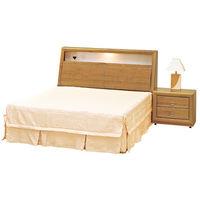時尚屋[G16]正赤陽木5尺雙人床G16-059-1+059-2不含床頭櫃-床墊