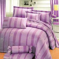 艾莉絲-貝倫 夢幻天堂-雙人加大四件式(100%純棉)鋪棉兩用被套床包組(紫色)