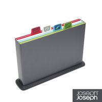 《Joseph Joseph英國創意餐廚》檔案夾止滑砧板(小灰)-附凹槽設計-60065