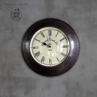 【協貿】複古歐式圓形靜音創意客廳金屬石英壁鐘B款