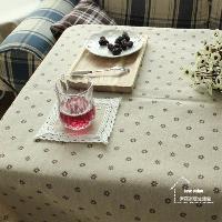 【協貿】雛菊棉麻蕾絲田園碎花小清新咖啡色餐桌布藝蓋巾