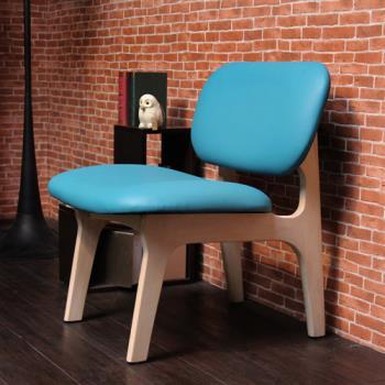 【H&D】JUDY茱蒂簡約休閒椅/單人椅/皮椅-四色